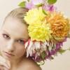 Фото. Необычные причёски из цветов и овощей. (9 фото)