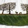 Фото. Картины на листьях от Lorenzo Duran. (10 фото)