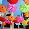 Креатив. Зонтики на улицах Португалии. (7 фото)