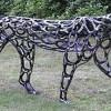 Фото. Оригинальные скульптуры из подков. (12 фото)