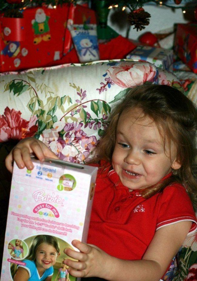 Радость ребенка на подарок 770