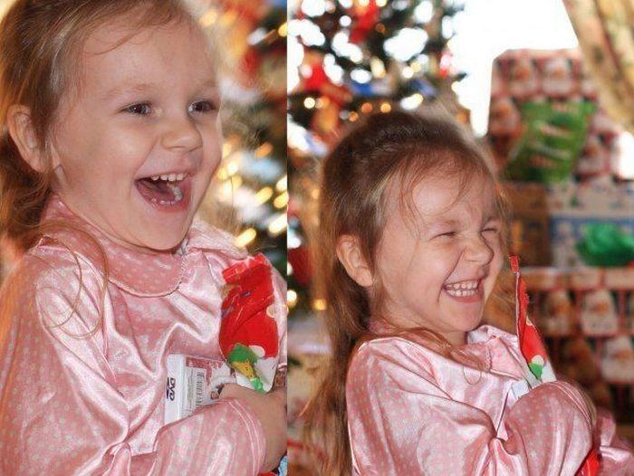 Радость ребенка на подарок