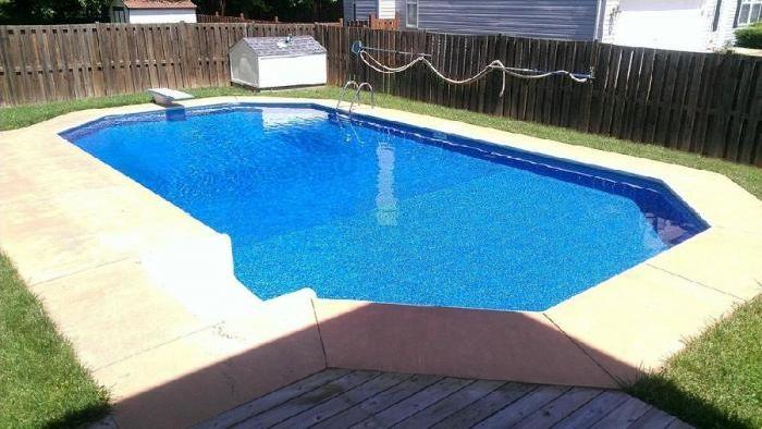 Двор с бассейном своими руками 43