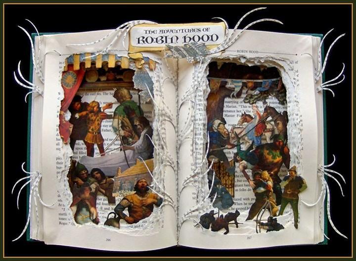 Удивительные коллажи из книг от Kelly Campbell Berry. (1)