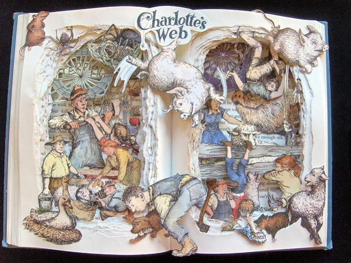 Удивительные коллажи из книг от Kelly Campbell Berry. (3)