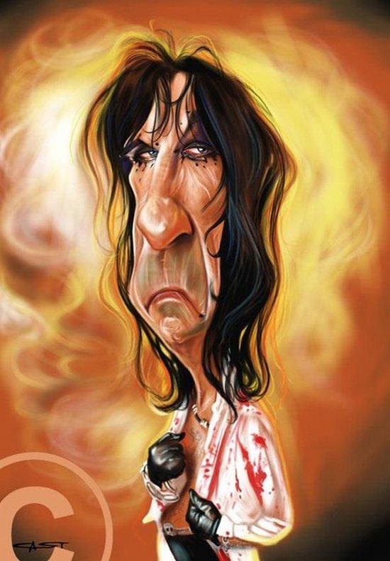 Карикатуры на рок исполнителей от Себастьян ролях. (16)