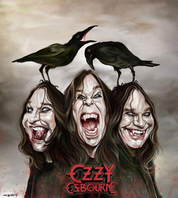 Карикатуры на рок исполнителей от Себастьян ролях. (1)