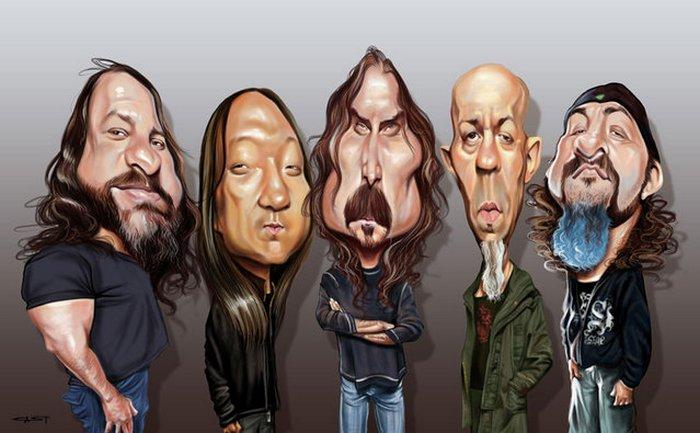 Карикатуры на рок исполнителей от Себастьян ролях. (5)