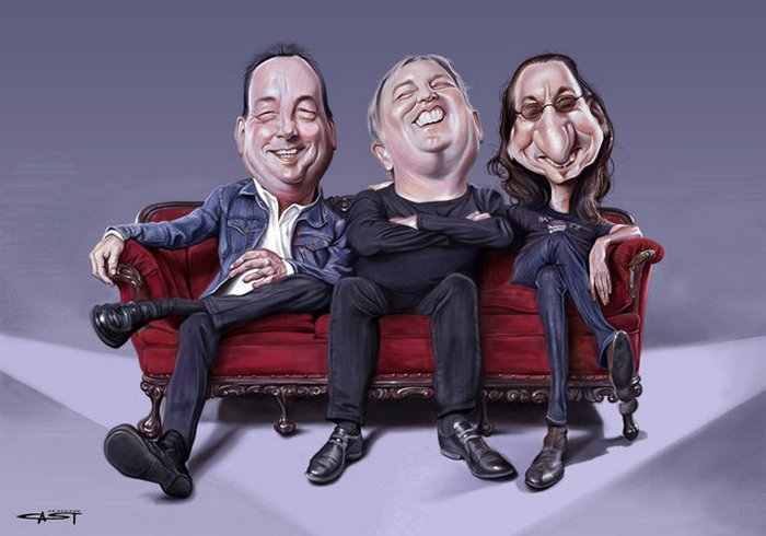 Карикатуры на рок исполнителей от Себастьян ролях. (9)