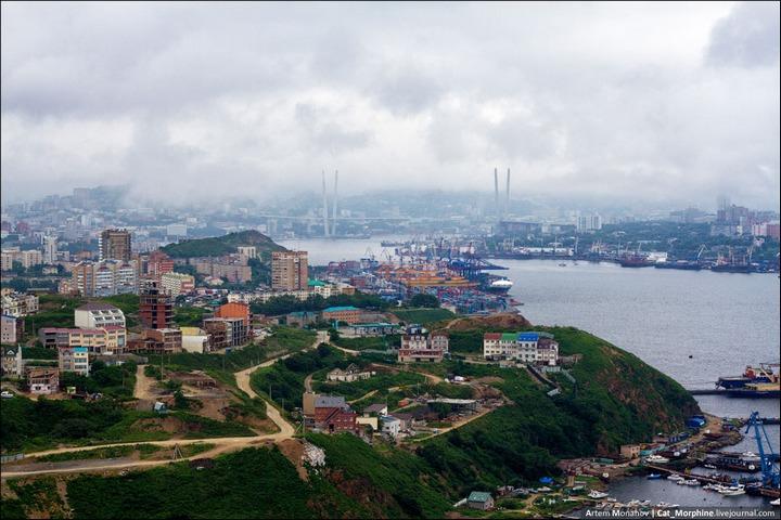 Восхождение на вантовый мост во Владивостоке (18)