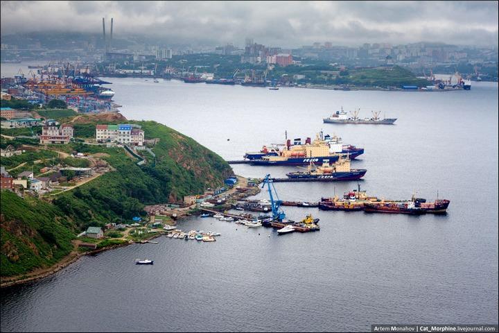 Восхождение на вантовый мост во Владивостоке (19)