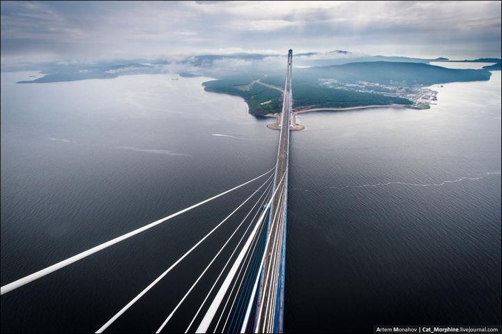 Восхождение на вантовый мост во Владивостоке (6)