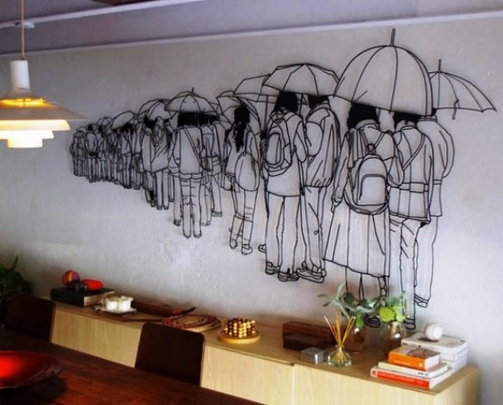 Креатив. Скульптуры из проволоки (10)