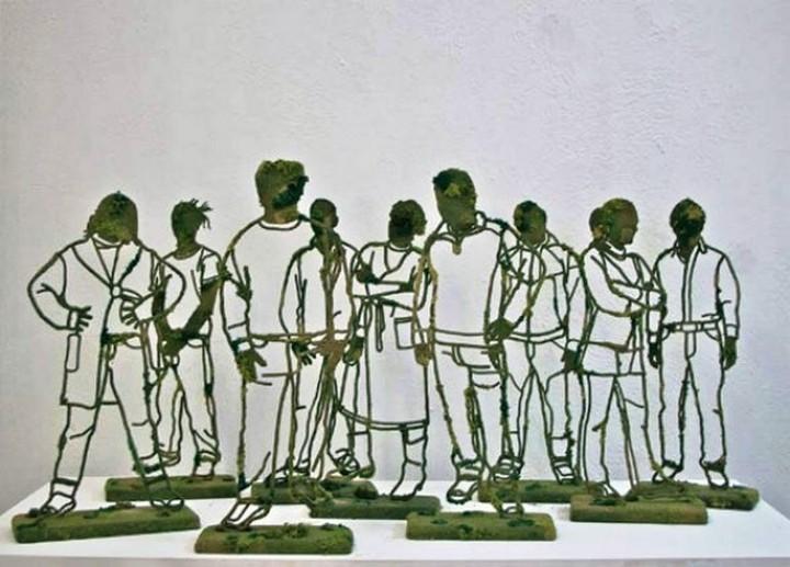 Креатив. Скульптуры из проволоки (9)