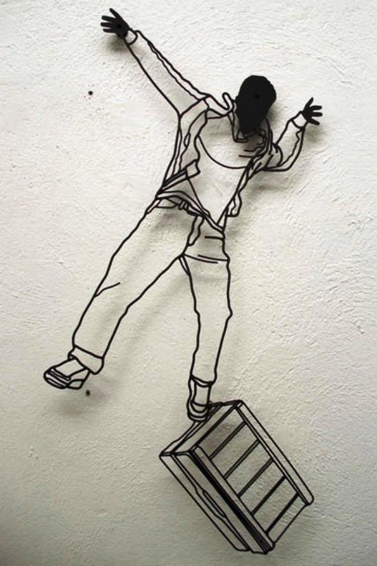 Креатив. Скульптуры из проволоки (4)