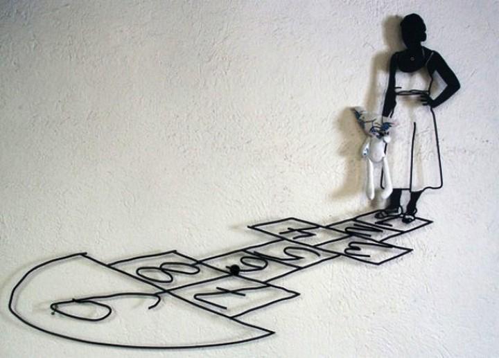 Креатив. Скульптуры из проволоки (3)