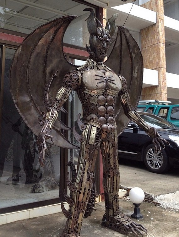 фото, креатив, скульптуры из металлолома (2)