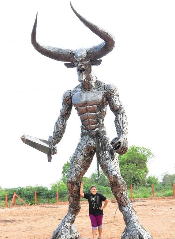 фото, креатив, скульптуры из металлолома (3)
