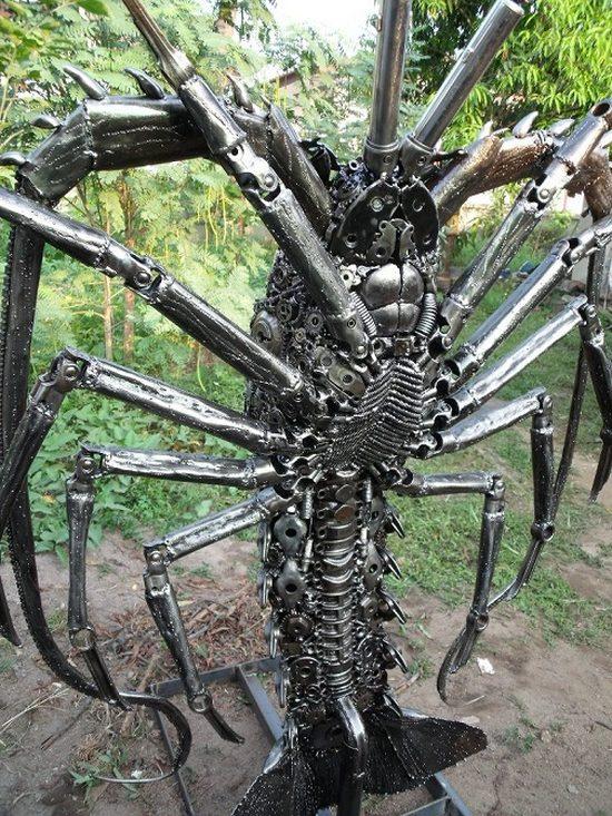 фото, креатив, скульптуры из металлолома (8)