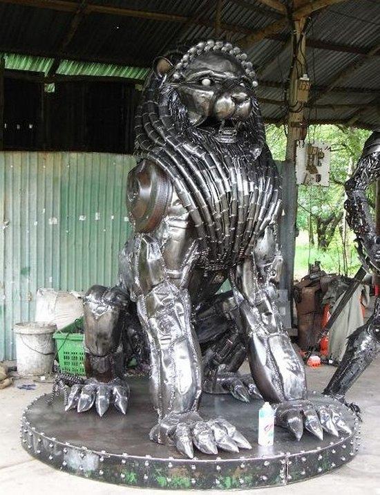 фото, креатив, скульптуры из металлолома (13)