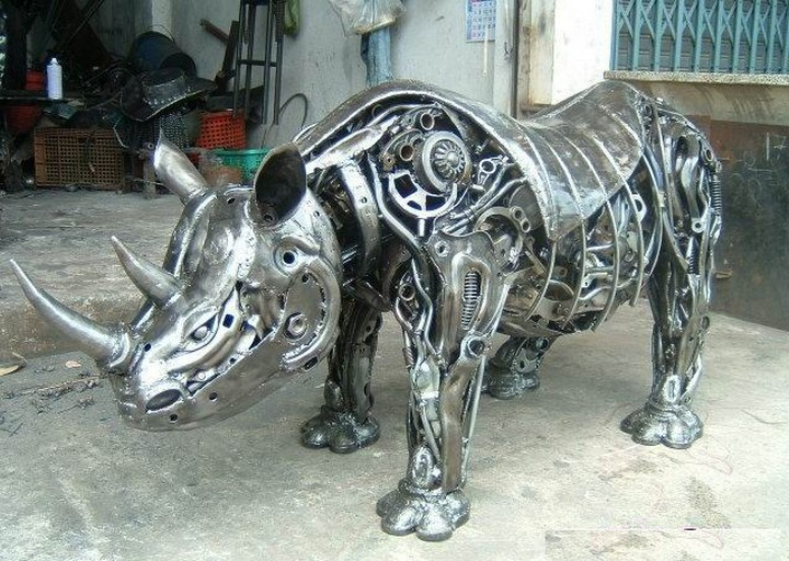 фото, креатив, скульптуры из металлолома (15)