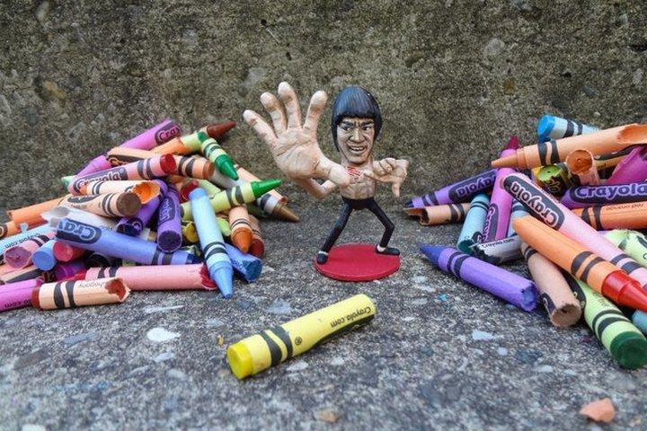 креатив, необычное, статуэтки из арахиса (2)