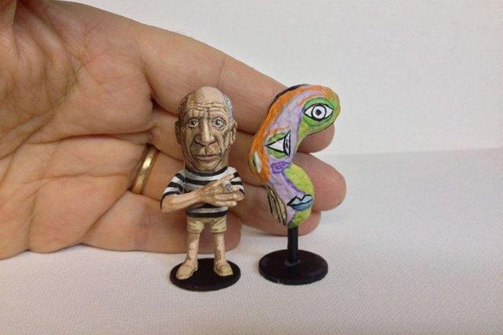 креатив, необычное, статуэтки из арахиса (7)