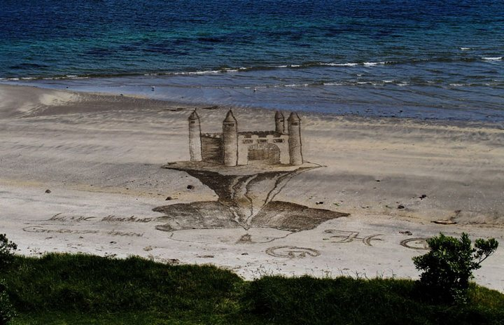 Креатив, 3D-рисунки на песке (8)