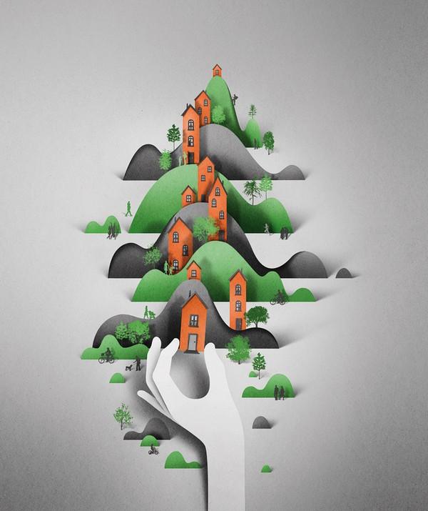 креатив, иллюстрации из бумаги (1)