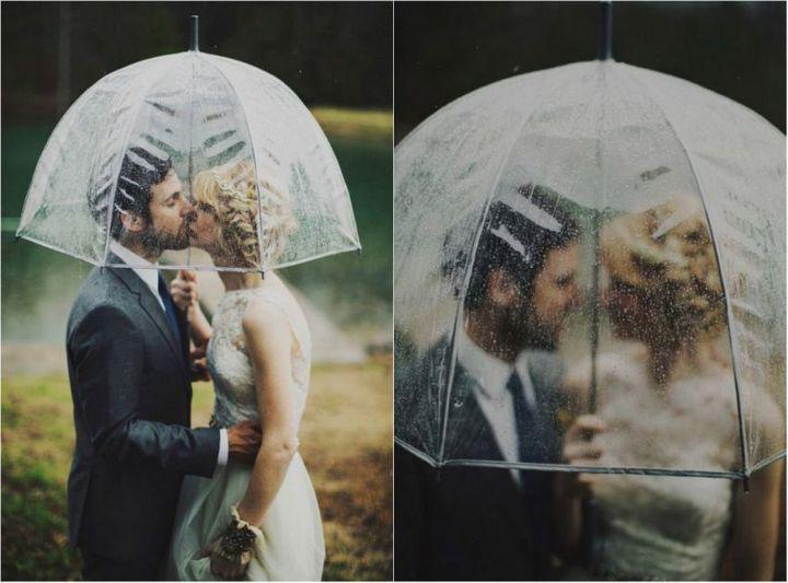 Красивые свадебные фотографии под дождем (6)