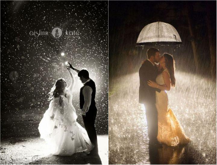 Красивые свадебные фотографии под дождем (3)