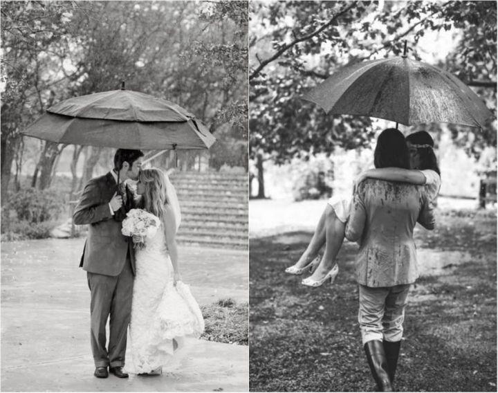 Красивые свадебные фотографии под дождем (1)