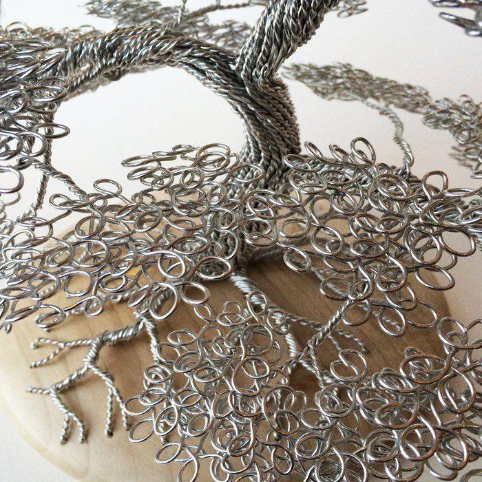 скульптуры деревьев из проволоки, креатив, необычное, бонсаи (12)