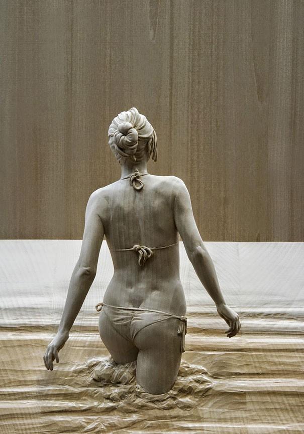 креатив, необычное, скульптуры из дерева (11)