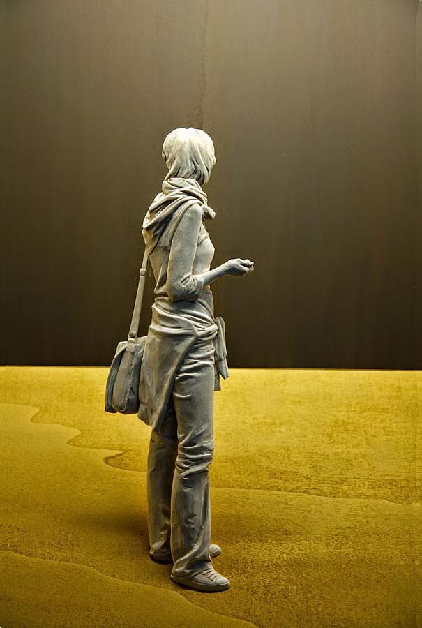 креатив, необычное, скульптуры из дерева (9)