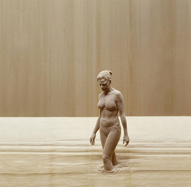 креатив, необычное, скульптуры из дерева (12)