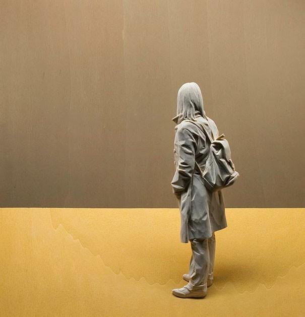 креатив, необычное, скульптуры из дерева (5)