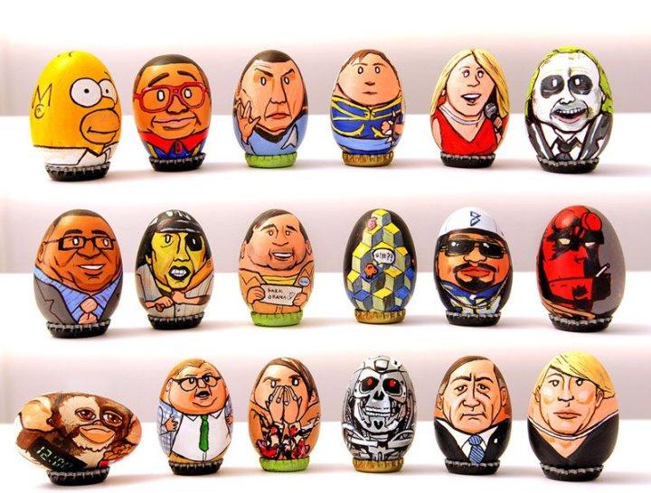 юмор, рисунки на яйцах (4)