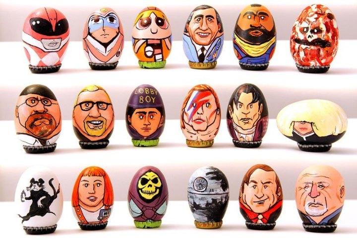 юмор, рисунки на яйцах (3)