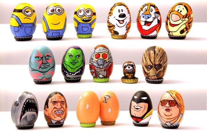 юмор, рисунки на яйцах (2)