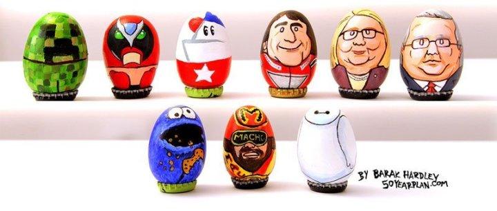 юмор, рисунки на яйцах (1)