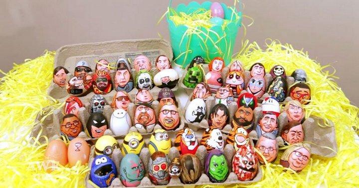 юмор, рисунки на яйцах (5)