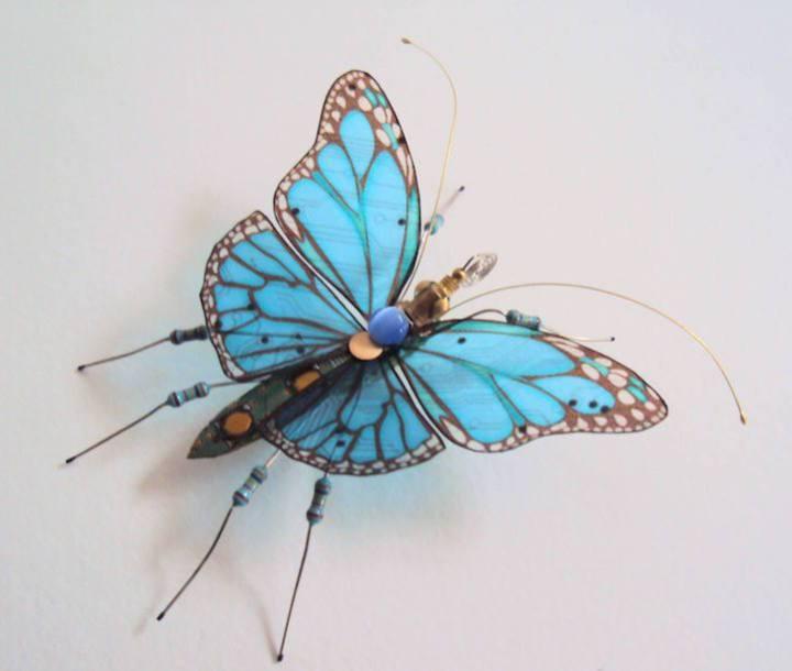 креатив, необычное, скульптуры из печатных плат (9)
