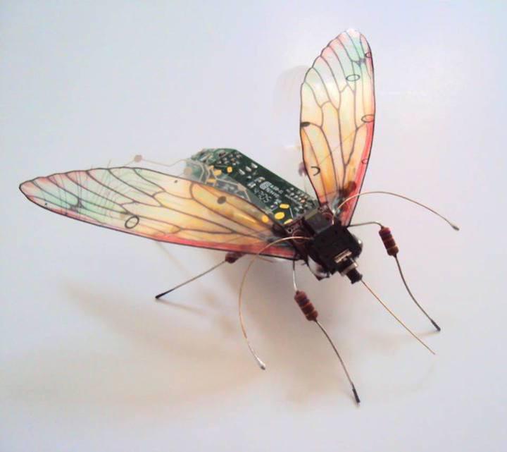 креатив, необычное, скульптуры из печатных плат (8)