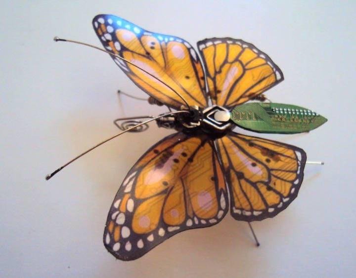 креатив, необычное, скульптуры из печатных плат (6)