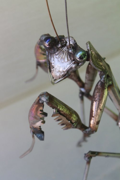 креатив, необычное, скульптуры из металла (8)