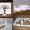 Скульптуры из листа бумаги от Питера Каллесена. (21 фото)