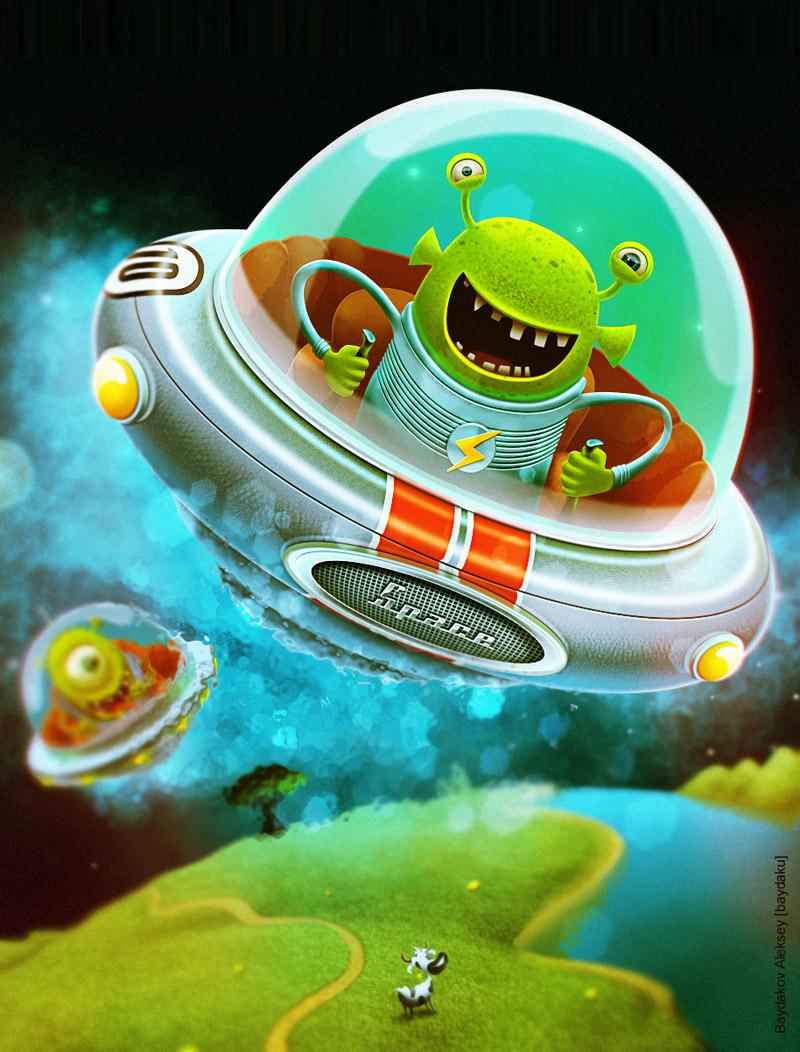 Смешные инопланетяне рисунки
