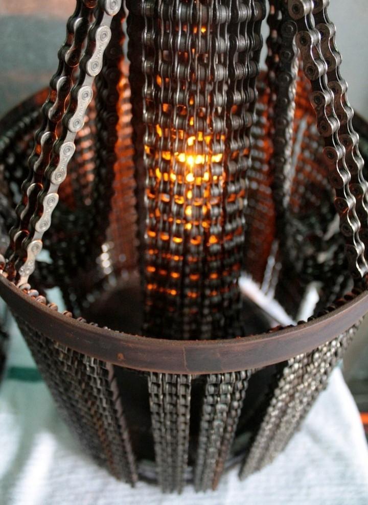 поделки из цепей фото посадочный диаметр