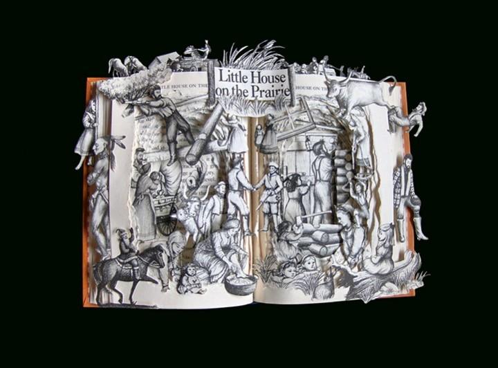 Удивительные коллажи из книг от Kelly Campbell Berry. (7)